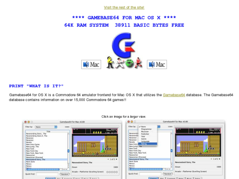 Details: The Official Gamebase64 emulator frontend for Mac OS X